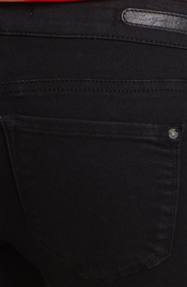 Alternate Image 3  - Mavi Jeans 'Serena' Low Rise Super Skinny Jeans (Black Shanti) (Online Exclusive)