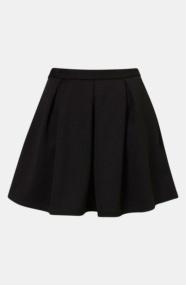 Main Image - Topshop Pleated Ribbed Skater Skirt