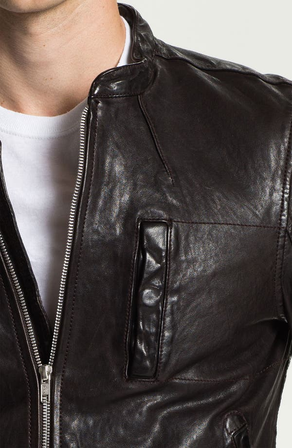 Alternate Image 3  - PLECTRUM by Ben Sherman Leather Moto Jacket