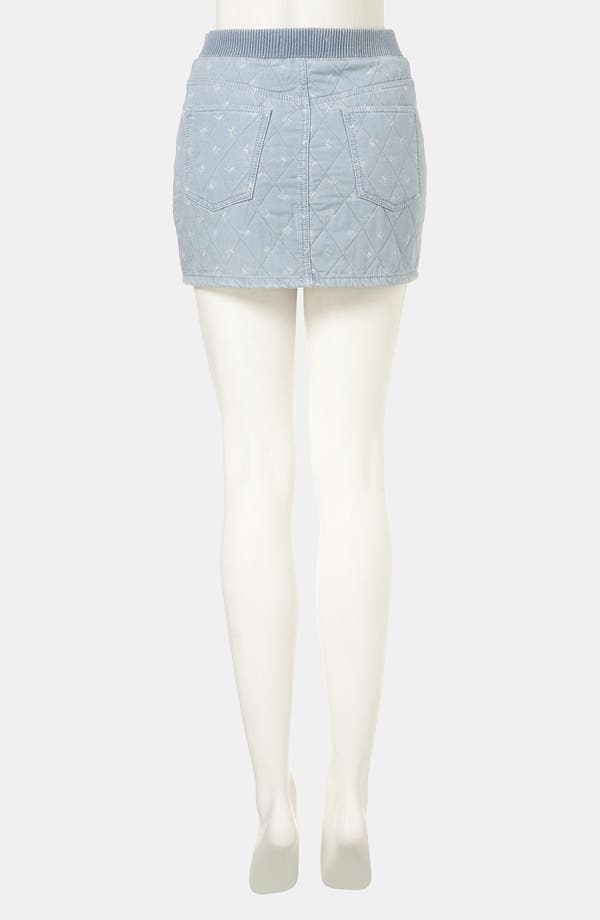 Alternate Image 2  - Topshop Moto Quilted Ditsy Denim Miniskirt