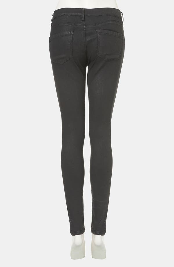 Alternate Image 2  - Topshop Moto 'Leigh' Skinny Jeans (Black)