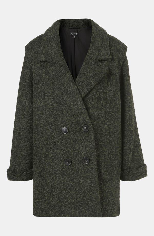 Main Image - Topshop 'Tex' Bouclé Coat