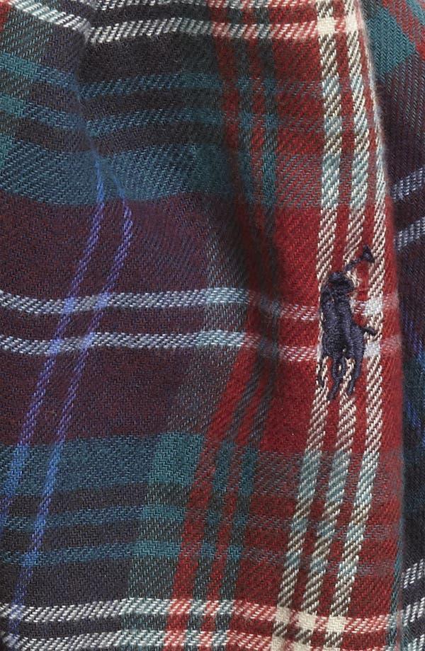 Alternate Image 2  - Polo Ralph Lauren Plaid Cotton Scarf