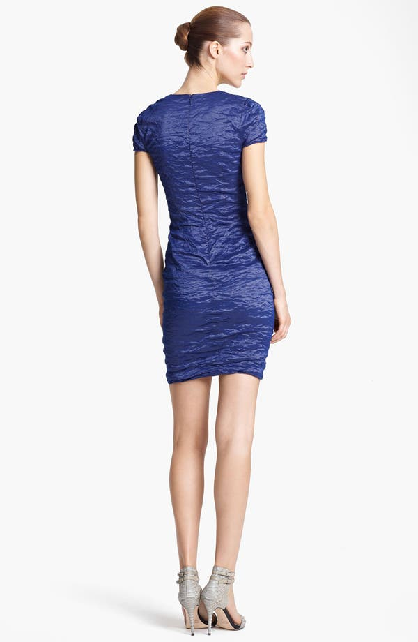 Alternate Image 2  - Yigal Azrouël Stretch Metallic Taffeta Dress