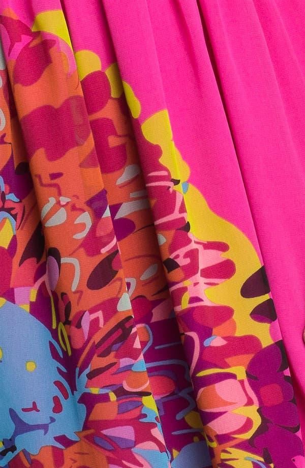 Alternate Image 3  - Kensie Placed Print Belted Dress
