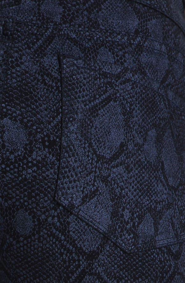 Alternate Image 3  - NYDJ 'Sheri' Metallic Print Skinny Twill Jeans
