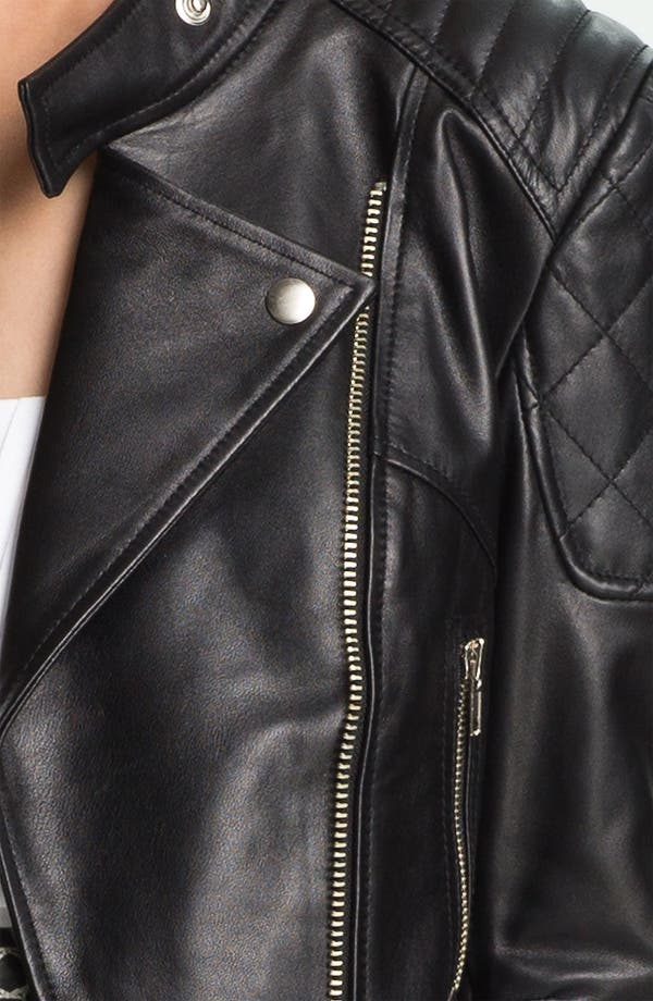 Alternate Image 3  - Mcginn 'Carleigh' Leather Moto Jacket