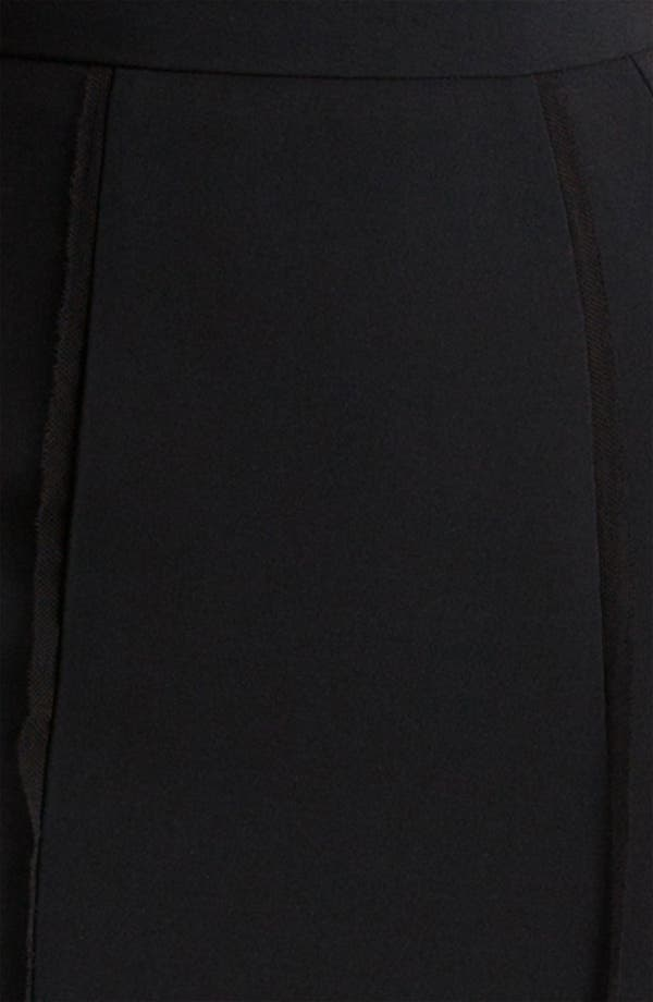 Alternate Image 6  - Dolce&Gabbana Raw Edge Stretch Cady Skirt