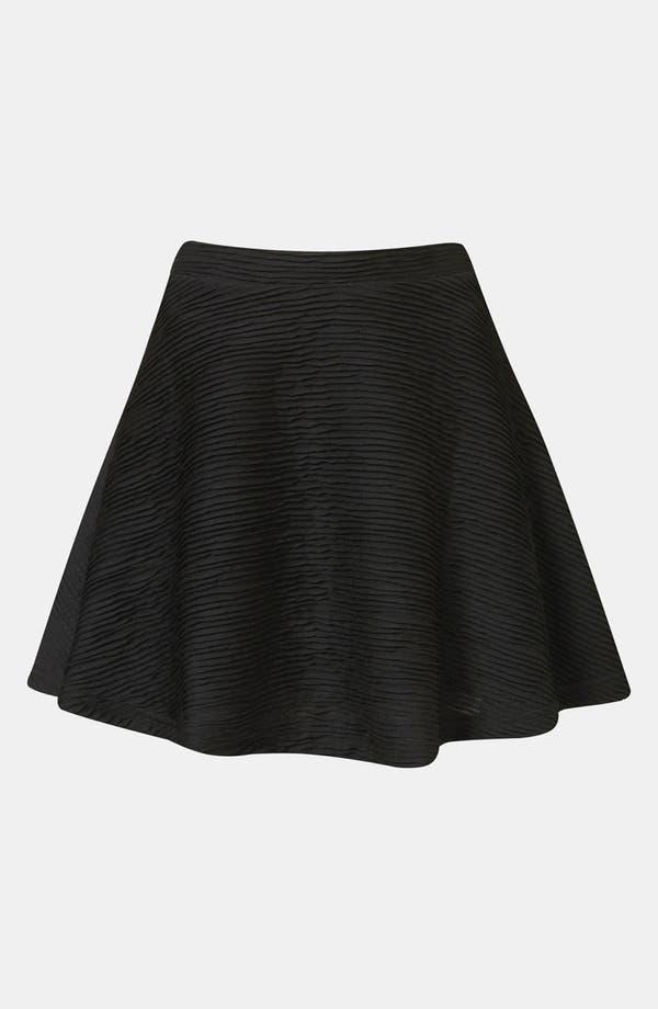 Main Image - Topshop Textured Skater Skirt