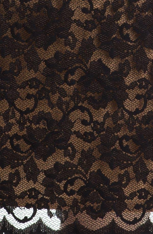 Alternate Image 3  - Karen Kane Scallop Hem Lace Dress