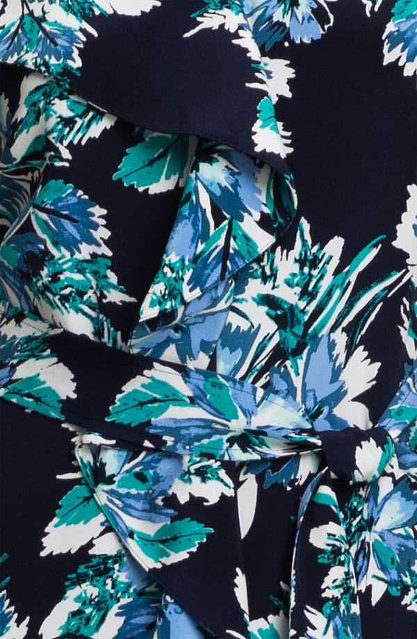 Alternate Image 3  - St. John Collection Belted Hibiscus Print Silk Dress