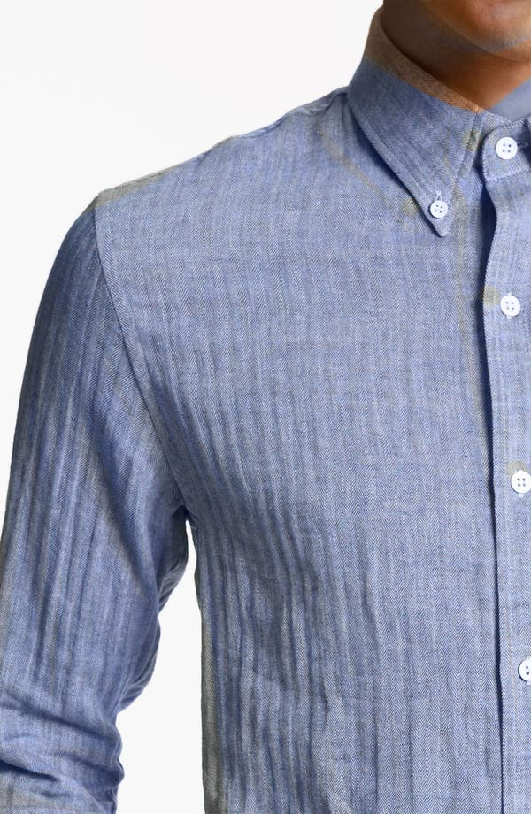 Alternate Image 3  - Band of Outsiders Herringbone Woven Shirt