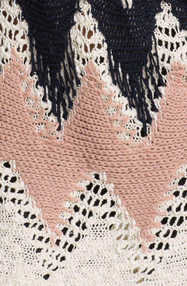 Alternate Image 3  - Love by Design Zigzag Crochet Tunic Sweater (Juniors)