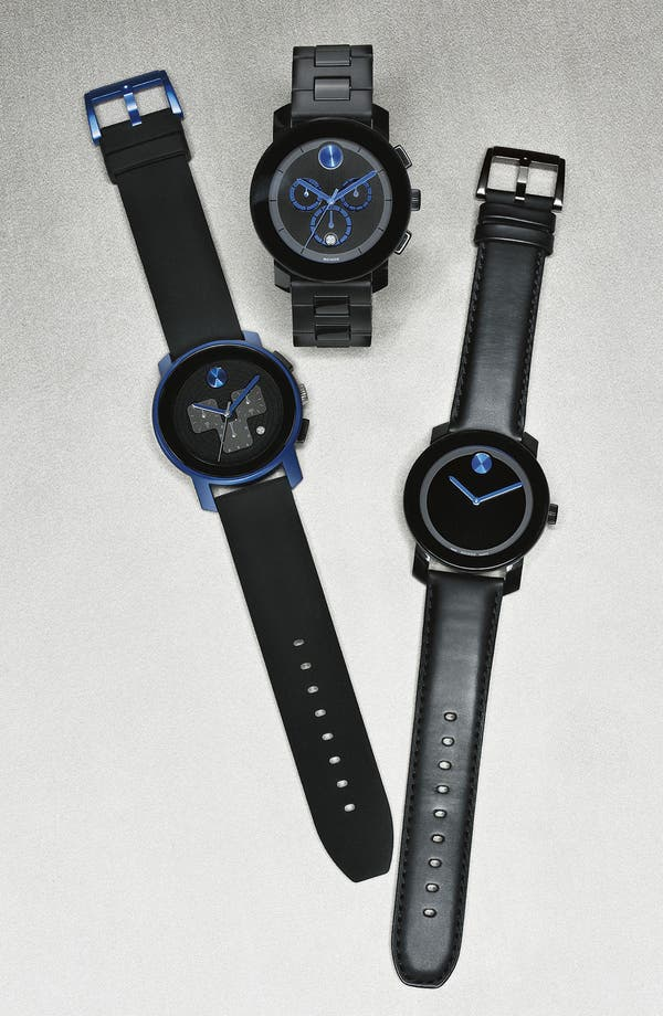 Alternate Image 2  - Movado 'Large Bold Chrono' Silicone Strap Watch, 43mm