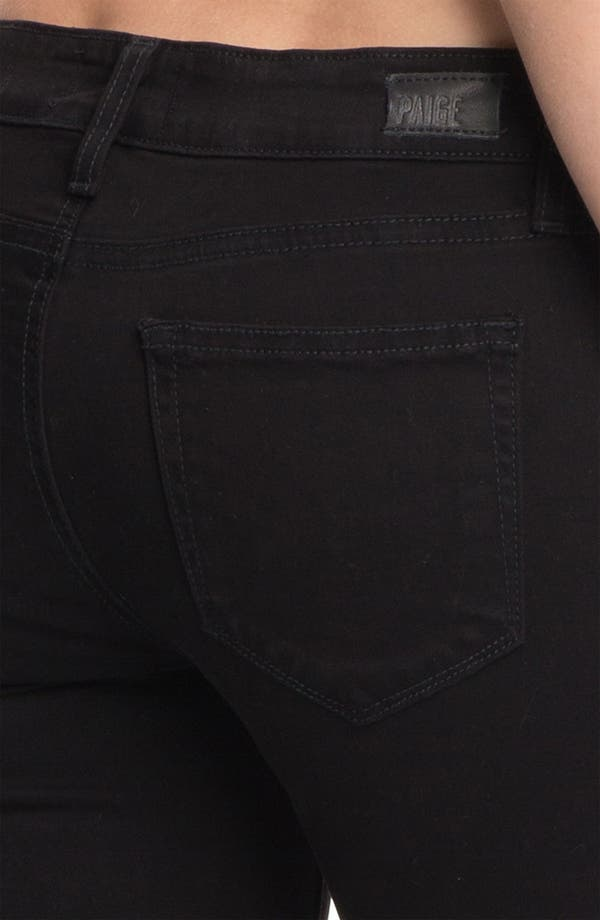 Alternate Image 3  - Paige Denim 'Edgemont' Skinny Jeans (Black)