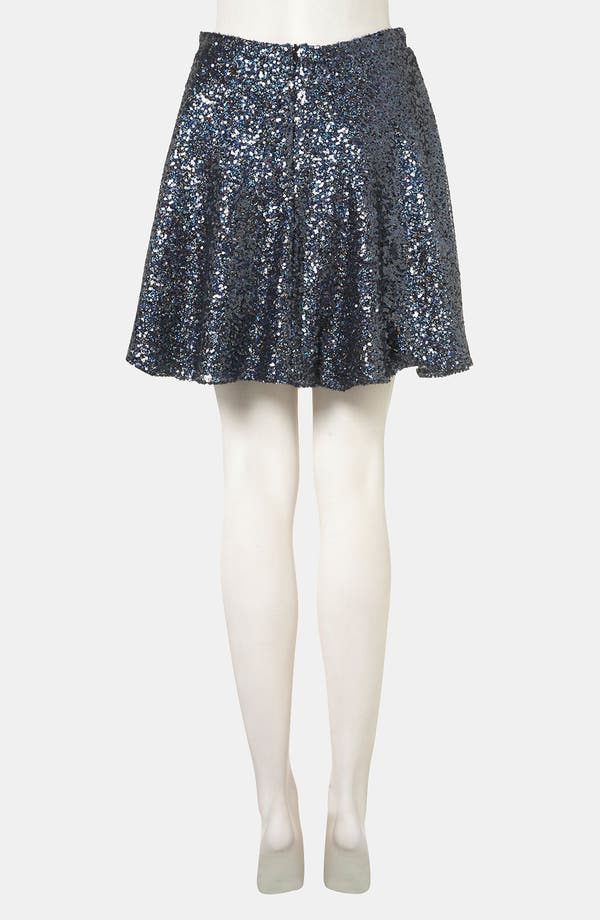 Alternate Image 2  - Topshop Sequin Skater Skirt