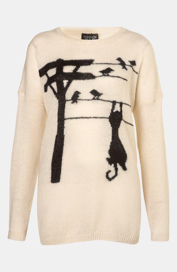 Alternate Image 1 Selected - Topshop 'Cat-Tastrophe' Sweater
