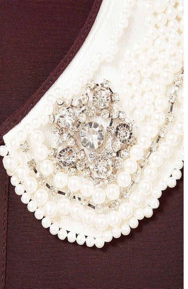 Alternate Image 3  - Topshop Embellished Collar Top