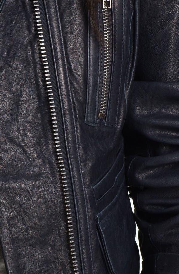Alternate Image 3  - Q40 'Brigitte' Leather Utility Biker Jacket