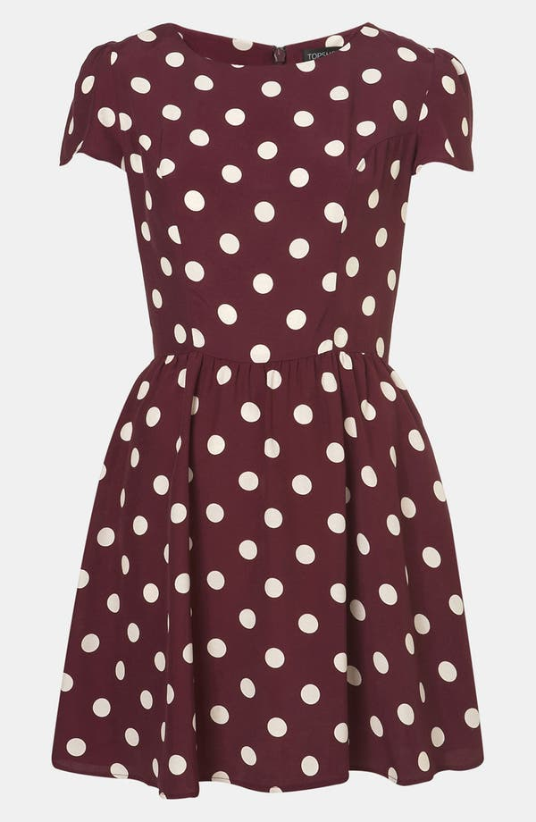 Main Image - Topshop Polka Dot Skater Dress