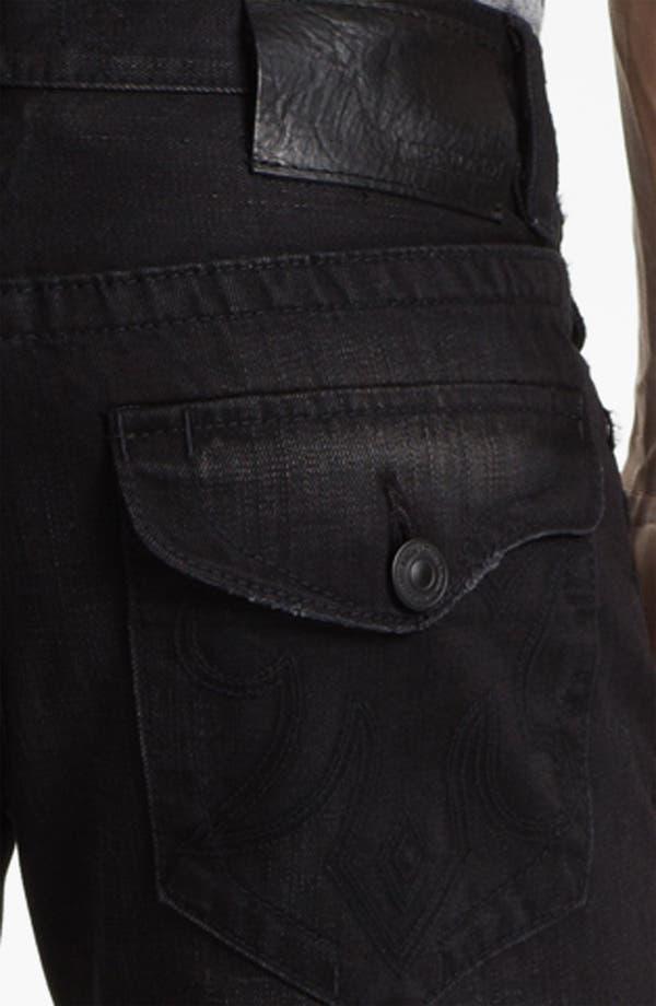 Alternate Image 4  - MEK Denim 'Riley' Straight Leg Jeans (Miner Black)