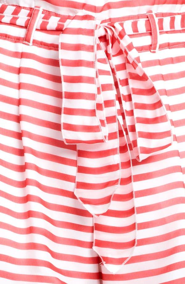 Alternate Image 3  - Armani Collezioni Nautical Stripe Shorts