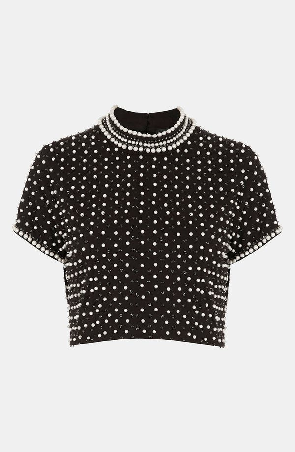 Main Image - Topshop Embellished Crop Top