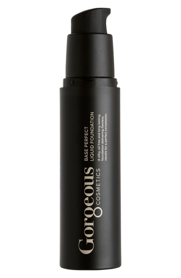 Alternate Image 1 Selected - Gorgeous Cosmetics 'Base Perfect' Liquid Foundation