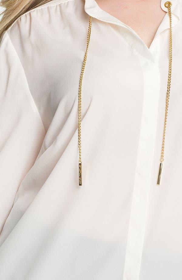 Alternate Image 3  - MICHAEL Michael Kors Chain Detail Shirt (Plus)