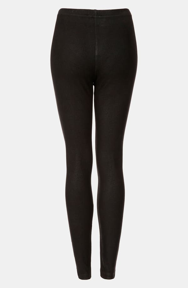 Alternate Image 2  - Topshop Coated Denim Leggings