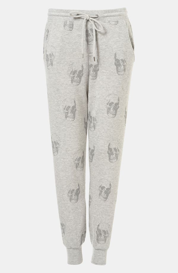 Alternate Image 1 Selected - Topshop Skull Print Tapered Sweatpants