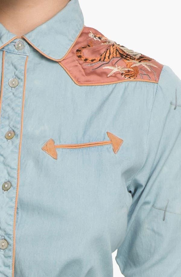 Alternate Image 3  - Maison Scotch Embroidered Chambray Shirt