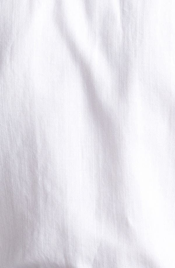 Alternate Image 3  - Armani Collezioni Piqué Woven Sport Shirt