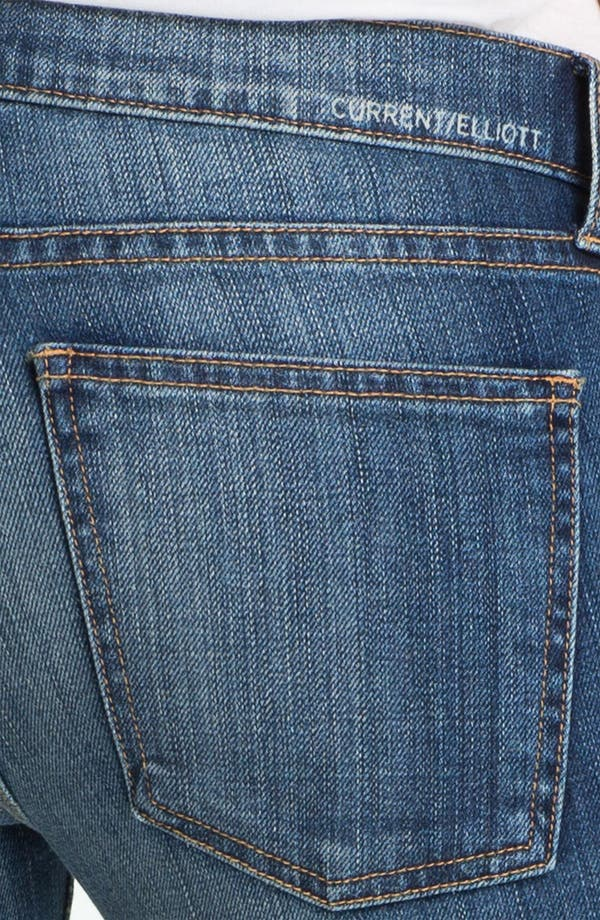 Alternate Image 4  - Current/Elliott 'The Rolled Skinny' Stretch Jeans (Yesterday)