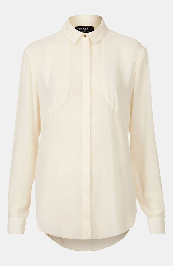 Main Image - Topshop Contrast Panel Shirt