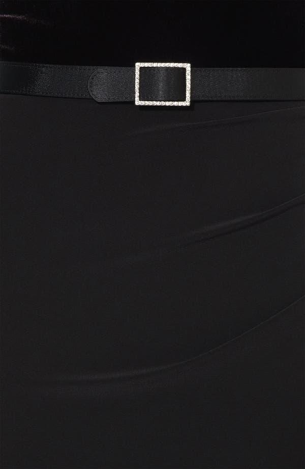 Alternate Image 3  - Lauren Ralph Lauren One Shoulder Velvet Gown (Petite)