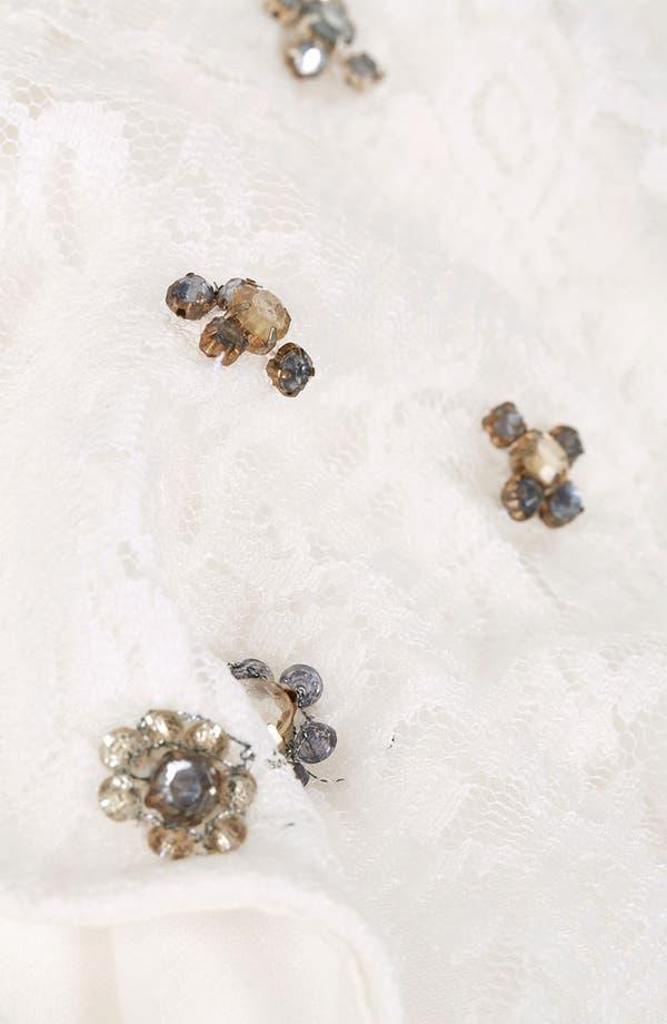 Alternate Image 3  - Topshop Crystal Embellished Lace Top