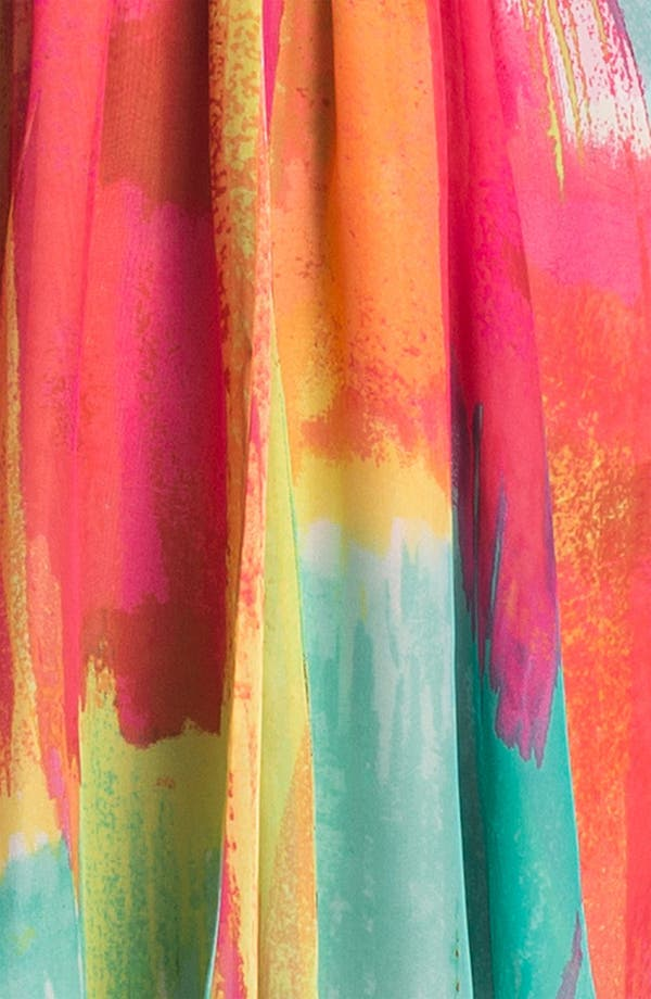 Alternate Image 4  - Laundry by Shelli Segal High/Low Print Chiffon Gown
