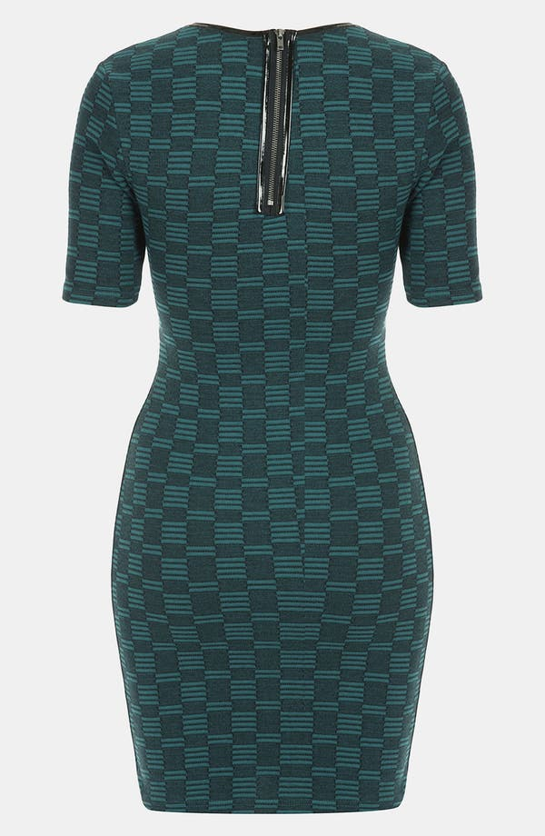 Alternate Image 2  - Topshop Geometric Knit Body-Con Dress