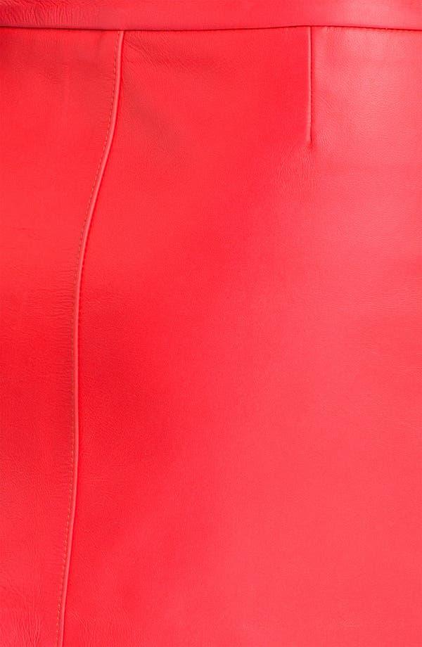 Alternate Image 3  - Milly Zip Detail Leather Miniskirt