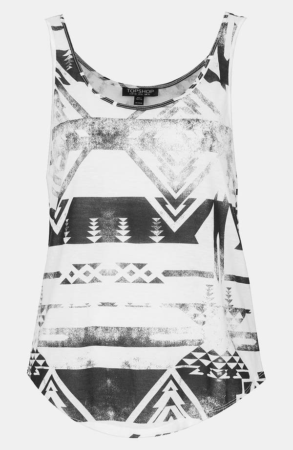 Main Image - Topshop 'Worn Shapes' Print Tank