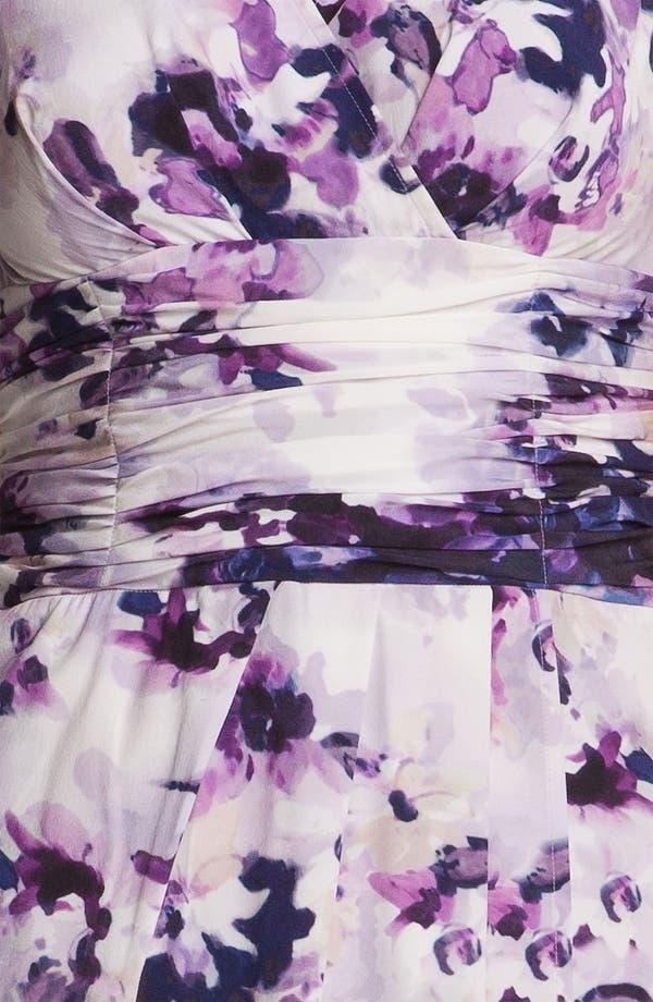 Alternate Image 4  - St. John Collection Iris Print Silk Dress