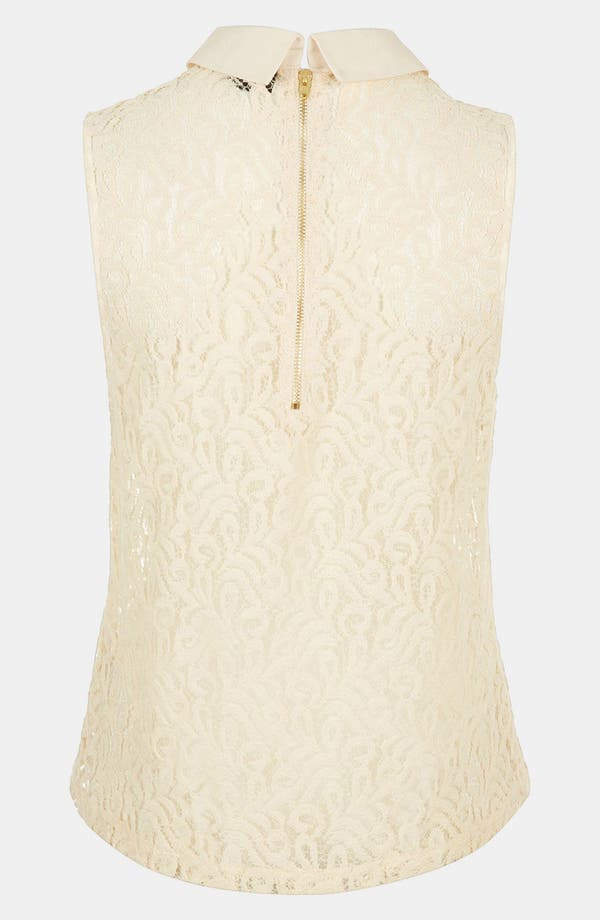 Alternate Image 2  - Topshop Collared Lace Tank