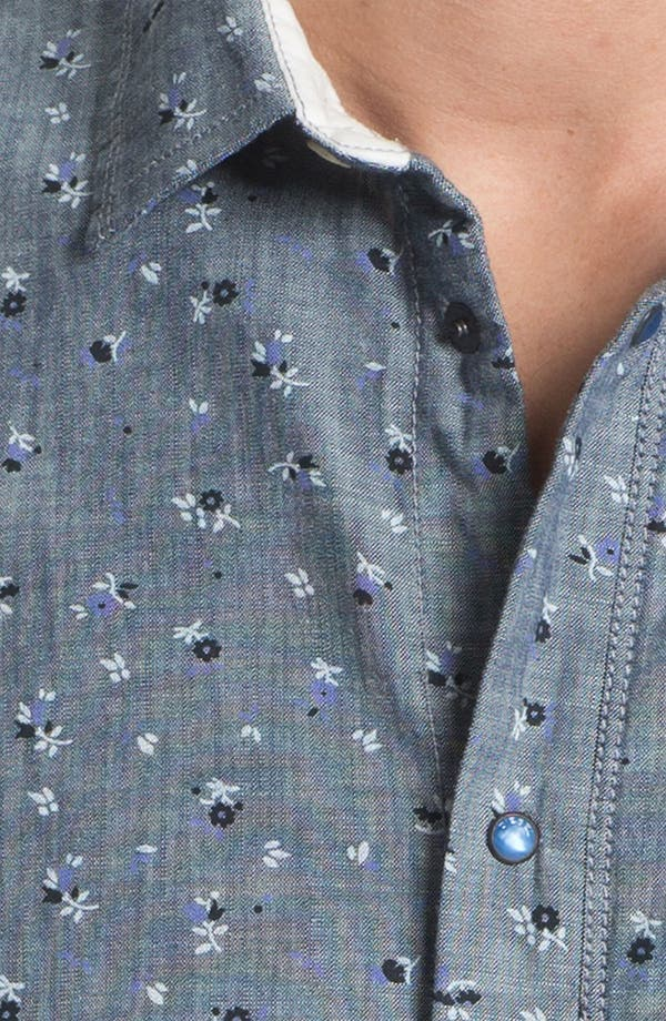 Alternate Image 3  - DIESEL® 'Sermon-R' Floral Print Chambray Shirt