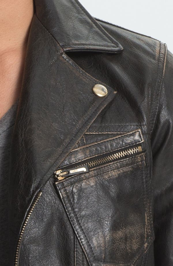 Alternate Image 3  - Just Cavalli Leather Moto Jacket