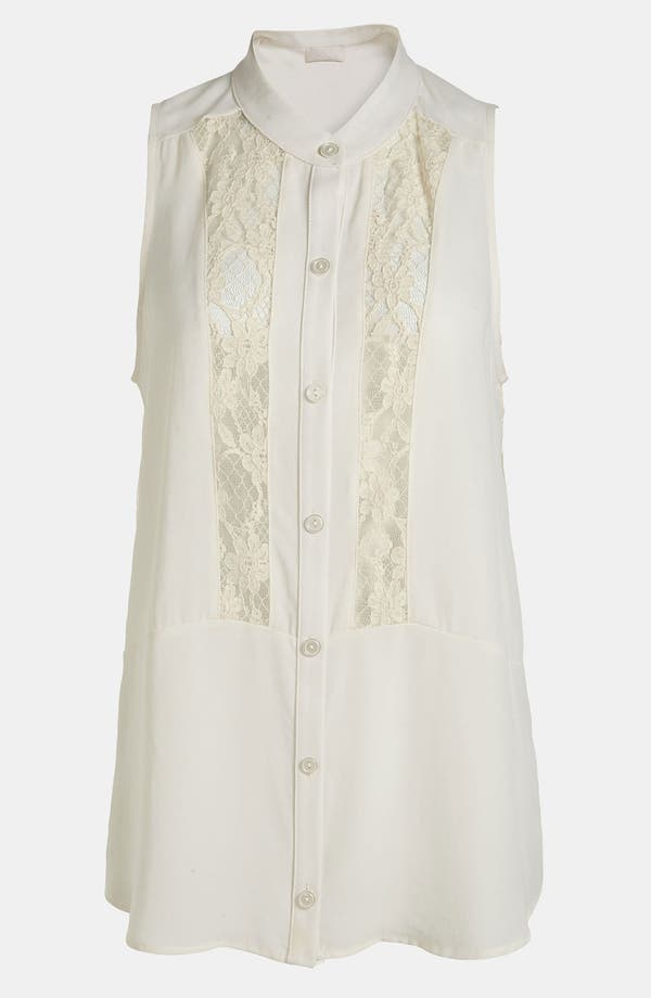 Main Image - ASTR Lace High/Low Blouse