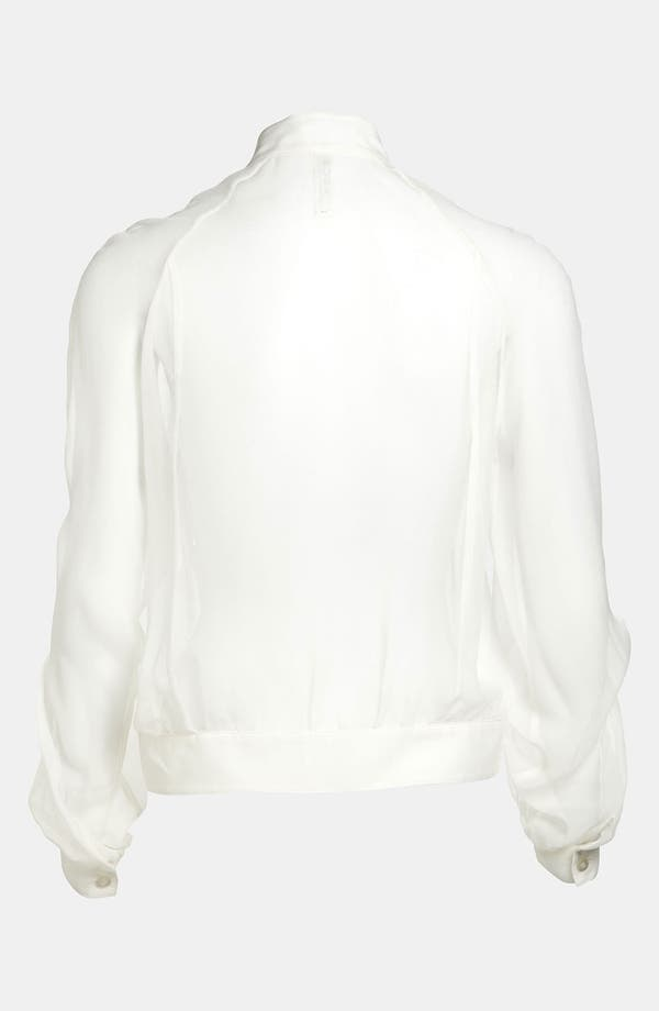 Alternate Image 3  - Mural Sheer Chiffon Bomber Jacket