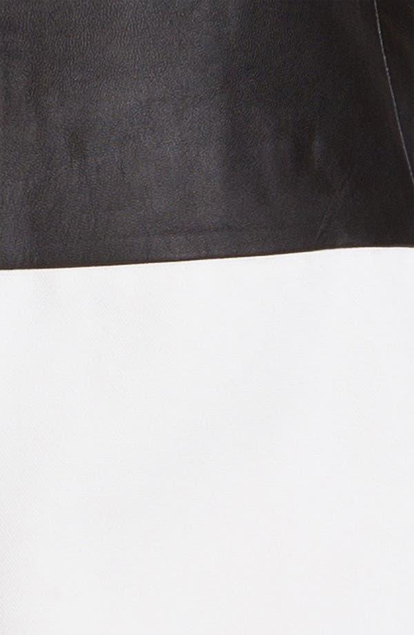 Alternate Image 3  - Tibi Paneled Leather & Cotton Dress