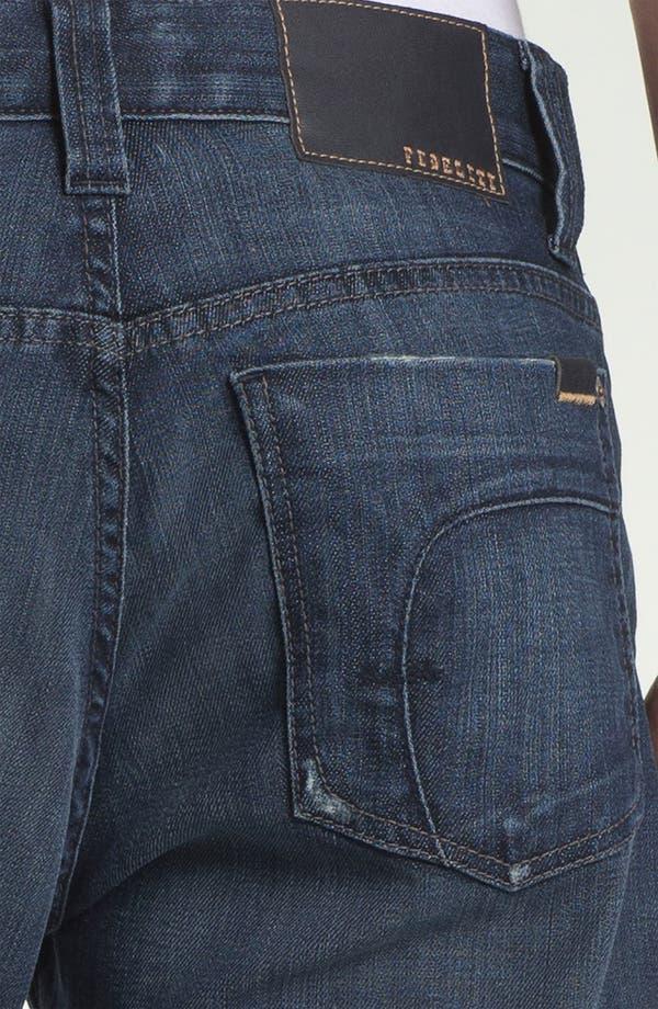 Alternate Image 4  - Fidelity Denim '5011' Straight Leg Jeans (Town Valley Wash)