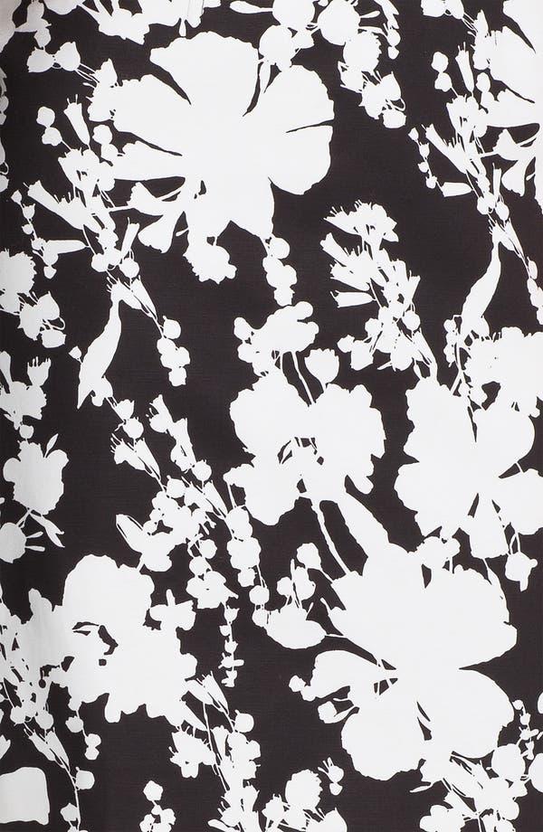 Alternate Image 3  - Halogen® Print Stretch Cotton Blend Skirt (Petite)
